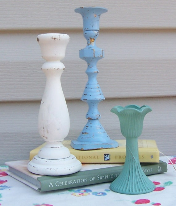 Candlestick Trio Beach Colors / Instant Collection