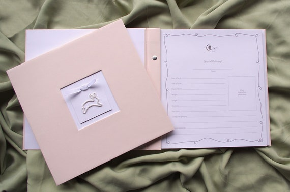 Pink Baby Girl Memory Book - Baby Album, Photo Book & Journal - Bunny Charm