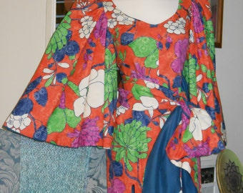Floral Dress With Angel Wing Sleeves