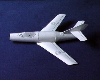Paper Model of Mystére Jet
