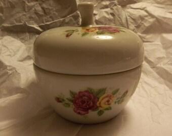 Porcelain Apple Trinket Box