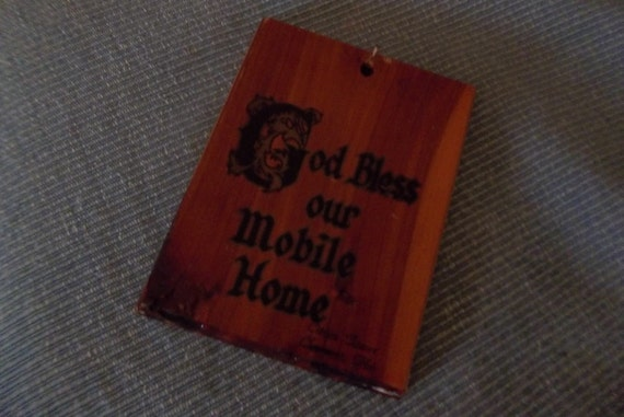 Kitschy Mobile Home  Plaque