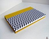 Yellow Chevron Blank Book - Small Pocket Hardback Journal