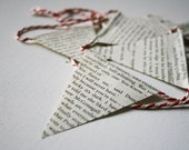 Harry Potter Book Bunting on Red and White Butchers Twine - 22 flags, children's room
