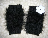 Infant or Toddler Fur crochet leg warmers, leggings or boot cuffs