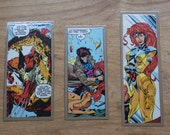 Set of 3 Recycled X-Men Comic Strip Bookmarks