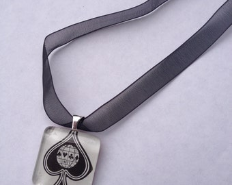 Ace of Spades - Glass Tile Necklace