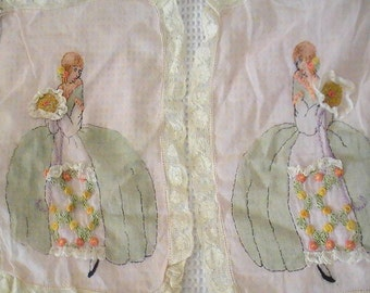 French Embroidery Linens with Ladies