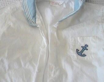 Vintage Children's Cotton Sailor Shirt