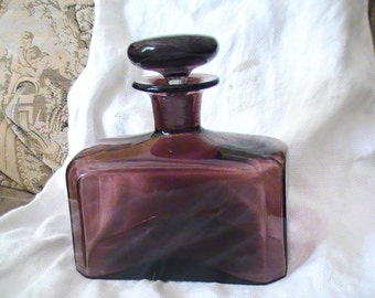 Beautiful Purple Factice Bottle or Liquor Decanter