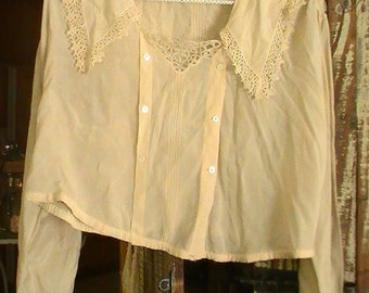 Victorian Vintage Silk Blouse