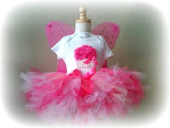 Pinkalicious Petti Tutu - 12 inch length - Made To Order  Ages 4 5 6 7 8 years Sparkle Glitter