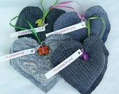 Thank You Gift Appreciation Gift Grateful Hearts Gift Package Up-Cycled Denim
