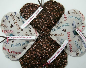 Coffee Scented Thank You Gift Grateful Hearts(TM) Gift Set