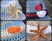PDF Crochet Pattern Little Man Summer Appliques Pattern
