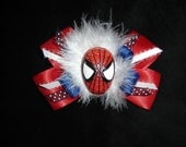 Spiderman Boutique feather bow