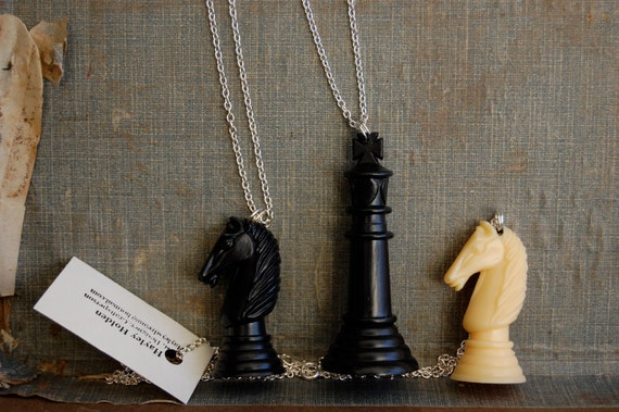 Chess Piece Necklace Hand Made & Up-Cycled