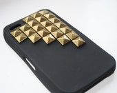 Black studded Iphone 4 cell phone case