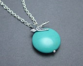 Blue Moon, Turquoise and Bird Necklace