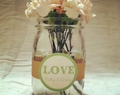 Mason Jar Wedding Centerpiece Decoration - Set of 50 Ribbon Wraps