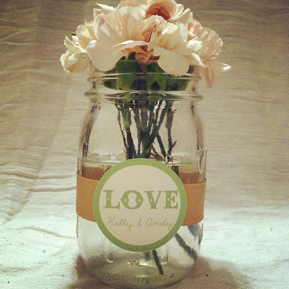 Country Wedding Mason Jars: Items Similar To Mason Jar Wedding Ribbon Wraps