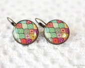Colorful Earrings - Multicolored Earrings - Vintage Earrings