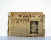 Original May 3rd, 1912 Newspaper - Virginian Pilot Titanic Headlines, Articles including President Taft, JJ Astor, Major Archibald Butt