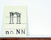 1941 Vintage School Letters - N is for Needlework - Ideal Phonic Talking Letters