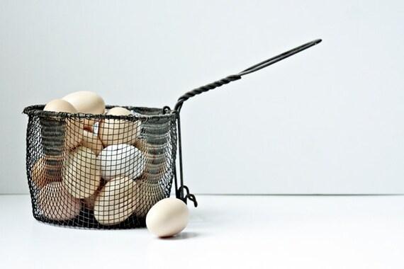 Vintage Wire Basket - Farmhouse Chic - Functional Kitchen or Industrial Loft