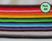 "Polyester felt, eco friendly, pick 20 Sheets, 7""x12"" felt, made from recycled plastic bottles"