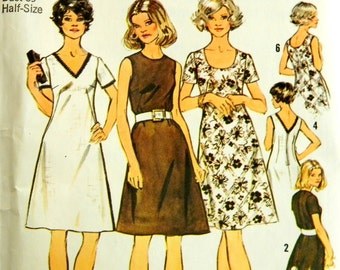 Sale 1970s Dress Sewing Pattern. Simplicity.  Mad Men Dress. Look Simmer. Ready to ship from Colorado USA