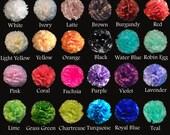 "5 pc 12"" Tissue Pom Poms Choose Color Flower Balls Wedding Party Bridal Baby Shower"