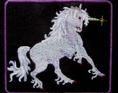 """Patch Embroidered Fantasy Unicorn 4 1/2"""""""