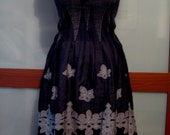 Boho Black Silver Dress Upcycled SZ XL