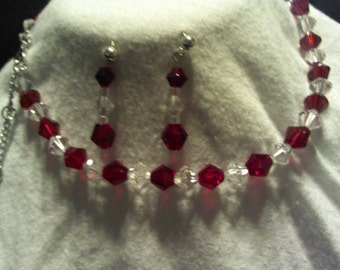 Classic Red Necklace & Earring Set