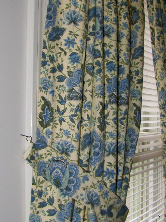 Waverly Curtains Blue And Green Drapery Plymouth Paisley 3
