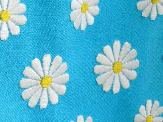 Aqua A-Line Daisy Dress
