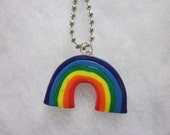 Colorful Polymer Clay Rainbow Necklace