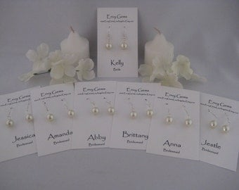 Custom Bridesmaids Earrings in over 50 colors to match your wedding colors