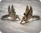 Vintage sterling silver bird earrings