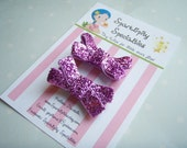 Baby, toddler or dog- tiny non-slip hair clips, 1 set of 2, Bubble Gum Pink