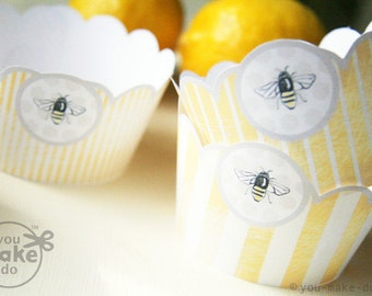 INSTANT DOWNLOAD Bumble Bee Party Decorations Baby Shower Printables