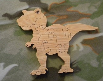 Wooden T-Rex Puzzle with Travel Bag
