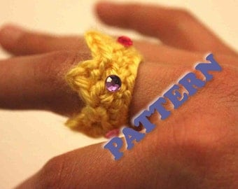 PATTERN Instant Crochet Crown Ring