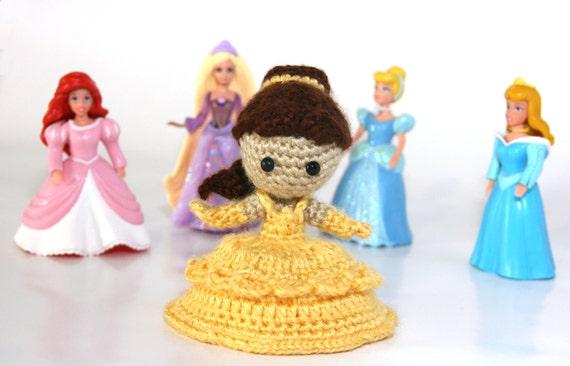 Belle Beauty and the Beast Princess Crochet Doll Amigurumi