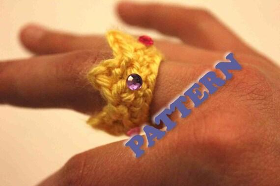 PATTERN Instant Crochet Crown Ring