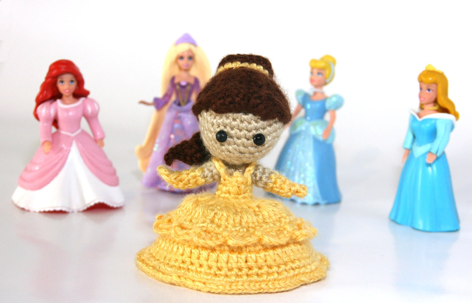 Belle Beauty And The Beast Princess Crochet Doll Amigurumi