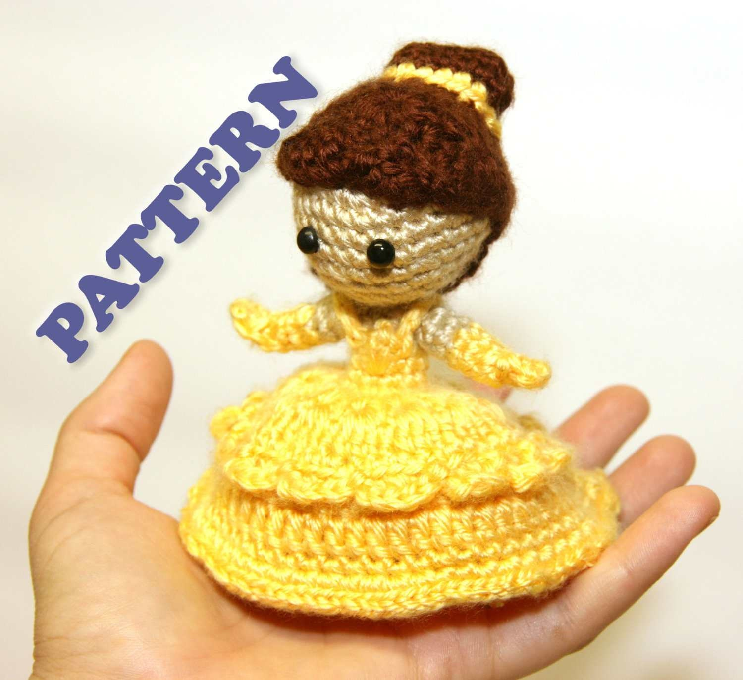 Free Crochet Disney Amigurumi Patterns : PATTERN Instant Download Belle Beauty and the Beast by Sahrit
