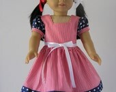 4th of July Dress 18 Inch Doll