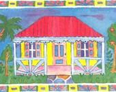 Gingerbread Cottage Print